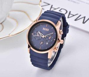 Hombre de Boss del hombre de goma reloj relojes de diseño de lujo de la marca de moda masculina del reloj del regalo del reloj Montre homme orologio di Lusso