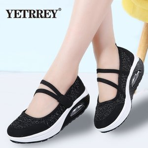 YETRREG 2019 Été Femmes Plateforme Plateforme Chaussures Femme Respirant Maille Casual Chaussures Mocassin Zapatos Mujer Dames Bateau