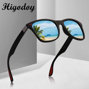 Higodoy Vintage lunettes de soleil surdimensionnées hommes polarisants Goggle classique pour hommes Lunettes de soleil Place conduite Polarisation UV400 Gafas