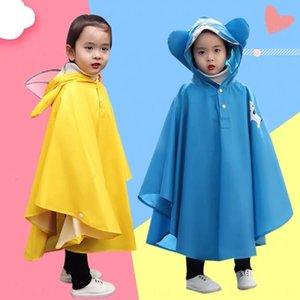 Baby raincoat girl student thickened waterproof cloak poncho Princess lovely children cloak riding children raincoat