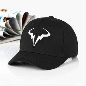 Rafael Nadal Beyzbol Şapkası Yeni 100% Pamuk Tenis Oyuncu Hiçbir Yapısı baba Şapka Erkek Kadın Snapback kemik Nakış Nadal Şapkalar Caps
