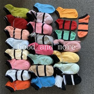 Fashion PINK Short Cotton Socks Campus Letter Breathable Sweat Candy Colors Absorbent Deodorant Sports Boat Socks