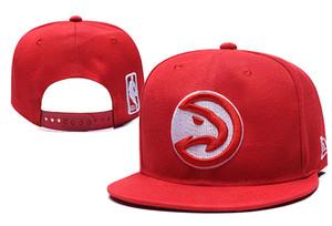 Atlanta Hawks Basquetebol Snapback Cap Football Baseball para ajustável ordem da mistura Womens Plano Mens Cap Sports Hat