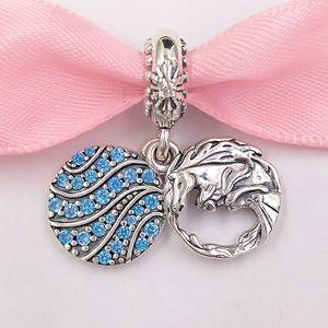 Authentique Argent 925 Perles Disnny Frozen Elssa Et Nokk Dangle Charm Charms bijoux européens Fits Style Pandora Bracelets Necklac