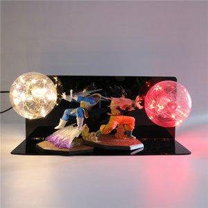 Dragon Ball Z Vegeta Goku Super Saiyan Led Lighting Lâmpada bulbo Anime Toy Crianças Acção presente Figuras DIY Anime Goku Modelo. # REs