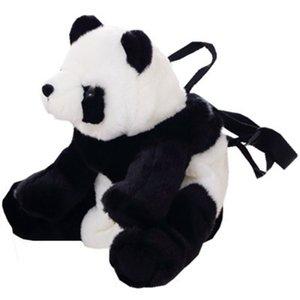 38 CM Panda Children Backpack Plush Panda Animal Toy School Bag Doll Zipper Large Capacity Lovely for Travel Gift For Kids Y200703