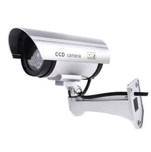 Fimei 더미 카메라 정품 인증과 함께 모방 보안 카메라 레드 라이트 ABS 재질 총알 모양 360도 회전 가짜 캠