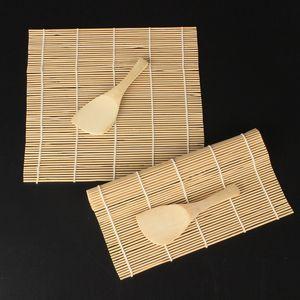 Sushi Set Bamboo rolamento Mats Sushi rolamento de rolos de cozinha DIY Sushi ferramenta com o arroz Paddle