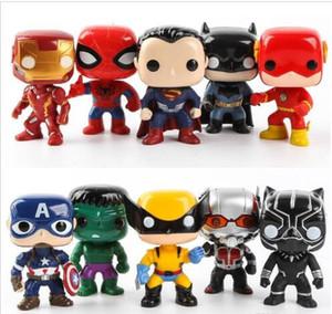 FUNKO POP 10 adet / takım DC Adalet aksiyon figürleri Ligi Marvel Avengers Süper Kahraman Karakterler Modeli Vinil Eylem Oyuncak Rakamlar