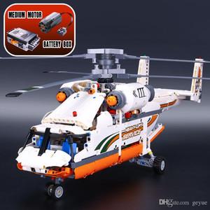 20002 série Technic 1060pcs helicóptero Duplo transporte rotor Modelo Building Blocks Bricks suportados 42052 brinquedos do menino