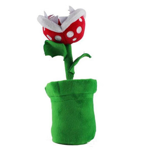 Super mario plush piranha planta brinquedos de pelúcia 23 cm para crianças peluche mario brinquedo de pelúcia crianças presente piranha planta brinquedos