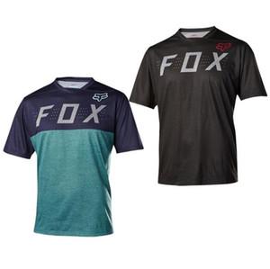 FOX футболка с короткими рукавами летний скоростной спуск мотоцикл езда костюм футболка Спорт на открытом воздухе с коротким рукавом гоночный костюм быстросохнущий топ