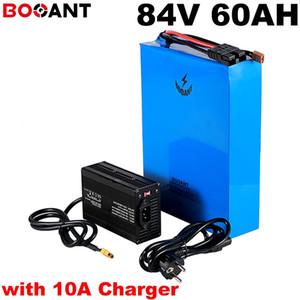 con caricabatterie 10A batteria al litio ricaricabile 23S 20P 84v 60ah batteria 84v 5000w 8000w bici elettrica per cellulare Samsung 30B 18650
