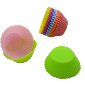 Mini Muffin Cup Round Silicone Cake Baking Molds Cupcake Pan Mold Silicone Cake Tool YQ 01970