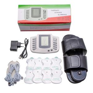Electrical Stimulator Full Body Relax Muscle Terapia Massageador Massagem dezenas de pulso Acupuncture Health Care Máquina 16 Pads r0067