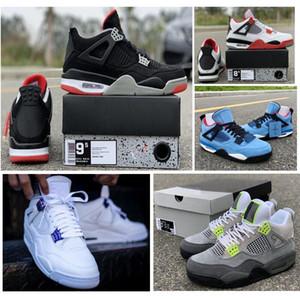 Tribunal roxo 4 SE Neon 4S 11s Preto Infrared 6s 4s sapatos de alta qualidade de basquete criados com sapatos Box Homens Sapatilhas