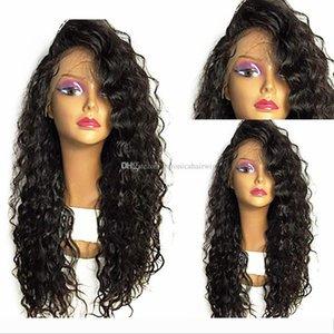 Free Shipping Long Loose Curly Wig Glueless Synthetic Hair Lace Front Wigs For Women 180% Density Heat Resistant Fiber Hair Weave Full Wigs