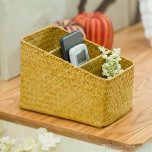 Tejido a mano seagrass escalera en forma de cesta de almacenamiento caja de rejilla cesta de almacenamiento de algas naturales con 3 rejilla fábrica al por mayor color primario