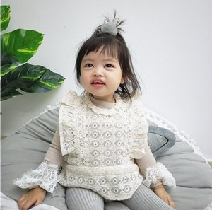 Hot 2020 Baby Girls Fashion Dress Sets, Lace Vest + Long Sleeve T-shirt 5 sets lot, Wholesale Free Shipping High Quality