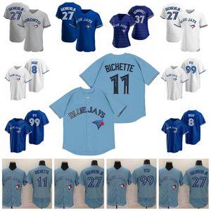 11 Bo Bichette 2020 Jersey Vladimir Guerrero Jr. Austin Martin Cavan Biggio Hyun-Jin Ryu Yamaguchi Randal Grichuk Drury Hernandez Jansen