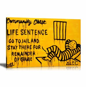 Alec Monopoly Go To Jail,HD Canvas Printing New Home Decoration Art Painting (Unframed Framed)
