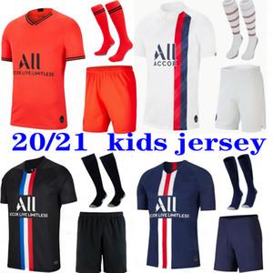 Maillots de Fußball-Kits 2020 PSG Fußball-Trikot 2020 2021 Mbappe ICARDI 4. Shirt Männer Kinder Sätze maillot de foot CAVANI Camisa camisetas