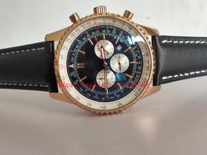 di lusso che vende Navitimer 01 AB012012 | BB01 | 435X | A20BA.1 in oro rosa Quadrante in pelle bianca Subdial OS Quarzo Cronografo Mens Watch Cronometro