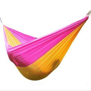 260 * 140 cm Ao Ar Livre Duplo Hammock Multifuncional 2 Pessoas Hammock Camping Mochila de Viagem Jardim De Praia Jardim 24 cores CH001