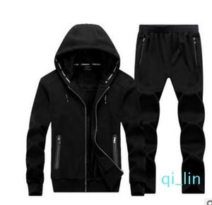 Sonbahar Kış Erkek Fleece Hoodie Eşofman Pamuk Uzun Kollu Koşucular Sweatpant Hoodie Hombre Giyim Büyük Boy 9XL