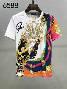 2020 Mode für Männer T-Shirt Kleidung der europäischen und amerikanischen Stil High-End-Drucken-Kurzschluss-Hülsen-Medusa Top Mode-Label