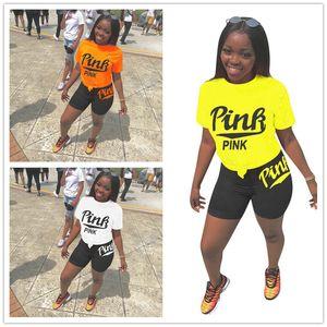 Summer Women Designer Tracksuit Luxury T shirts and Biker Shorts 2 Piece Outfits Brand Sportswear PLUS SIZE Joggers Sport Suit Cloth D52714
