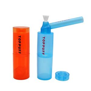 Portable ACQUA MANO TUBO TOP PUFFO TOPPUFF TIPPUFF BRUSTER OLIO DAB RIG SMARG RIGS DAB Herb Plastic Plastic Pelic Pedripe Bong