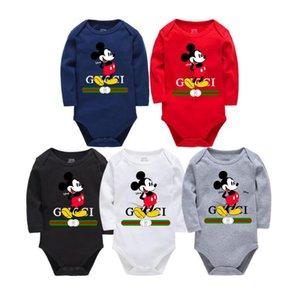 Новые дети pajamasBaby комбинезон новорожденных Детская одежда с длинным рукавом нижнее белье хлопок костюм мальчики девочки осень комбинезон 0-24 см
