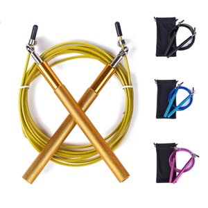 Free pouch 3 Meters METAL Crossfit NPFL BEARING   Handle!! Jump Rope Cable and Speed home MMA   gym rope Box skipping