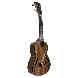 26 Inch Ukulele Walnut madeira Tenor Ukulele 18 Fret acústica Guitarra elétrica Guitar Ukelele Mahogany Fingerboard Neck Hawaii 4