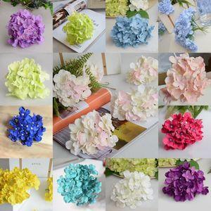 30pcs / lot Hydrangea Cabeça Diy Cabeça de flor Centerpieces casamento Fundo Decorativo Flor Hydrangea Chefe Home Decor