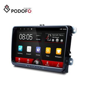Podofo Android 8.1 Araç DVD oynatıcı 1 + 16 GB 2DIN Araba teypleri Autoradio VW / Volkswagen / Skoda / Golf / Polo / Passat / b7 / b6 / SEAT / Tiguan için