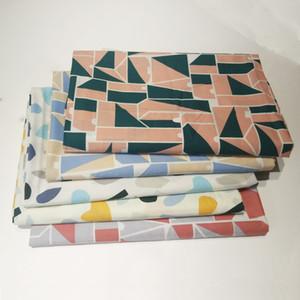 면 직물 아이 드레스 기하학적 패턴 인쇄 천 포플린 DIY 옷 침구 세트 수제 바느질 패치 워크 직물