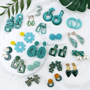 Korean Geometric Anhänger, Ohrringe Mehrere Tropfen-Ohrring-einzigartige Entwurfs-Blumen-Harz-Acryl Shell Ohrringe baumeln