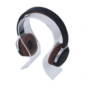حامل سماعة الأكريليك العالمي - (أسود أبيض واضح) سماعة سماعة مكتب عرض موقف حامل قوس بيع مصنع