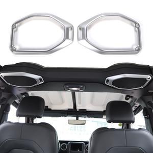 Altavoz de techo decoración del coche de plata anillo de la cubierta para el Jeep Wrangler 2018 JL enchufe de fábrica de alta quatlity Auto accesorios internos