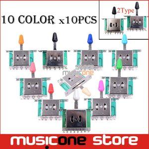 도매 10PCS 다채로운 5 웨이 셀렉터 일렉트릭 기타 픽업은 기타 전환 레버 기타 부품 스위치 스위치