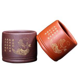 100ml Çay Kupası Çin Yixing Mor Kil Kupası Puer Bardaklar Çay Töreni Teaware Usta Çay Bowl Kahve Tutucu fincanları Dekor El Sanatları