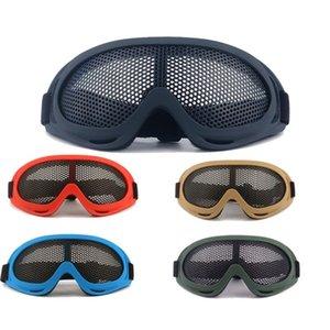 Gafas de seguridad Reticular Red de hierro Resistencia a los golpes Gafas negras al aire libre Montañismo Multi colores Tácticas Gafas Nueva llegada 14js L1