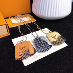 Heiße populäre klassische Entwerfer 3 Farben Halskette Monogramm Brief Charm Ringe Halskette Luxus-Schmuck Frauen und Männer Halsketten mit Kasten