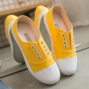 women canvas vulcanized shoes woman flats 2019 Spring Autumn flat with sneakers women shoes slip-on ladies shoes women sneakers