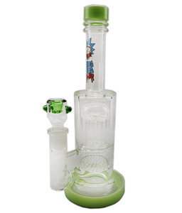 glassart New Oil Rigs Glass Bong Thick Water Pipe Perc Honeycomb Percolator Smoking Piper Female Joint Thick Arms