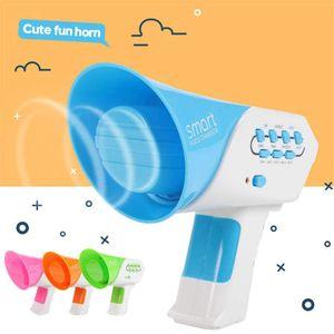 Mini di vendita caldo Horn Funny Kids altoparlante giocattolo 7 Voci di plastica Voice Changer Voice cambia Giocattoli formazione gioca per i bambini