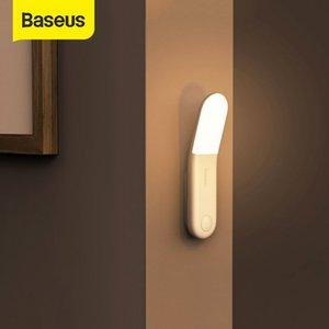 USB barato Gadgets Baseus Led Indução Noite indução do corpo humano Noite Lamp USB recarregável LED Light Sensor de Movimento Corredor Luz