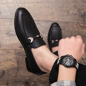 Brand Fashion Loafers Driving Lazy Shoes Men Casual Office Formal Shoes Men slip on Leather Dress Shoes A51-70
